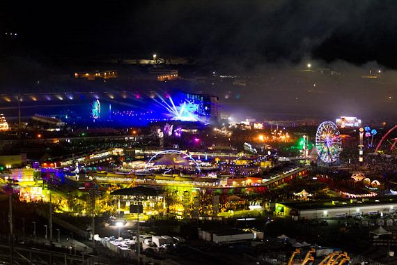 Aerial photos of Electric Daisy Carnival at Las Vegas Motor Speedway