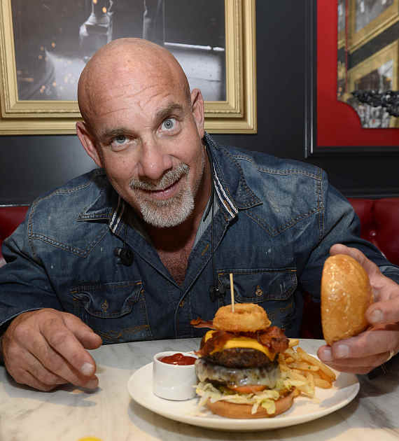 Bill Goldberg with the famous Goldburger at Sugar Factory Las Vegas