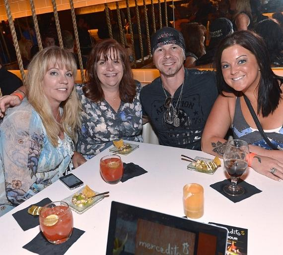 Stations Entertainment's Judy Alberti and Monica Reeves with Season 1 of The Voice contestant Jared Blake