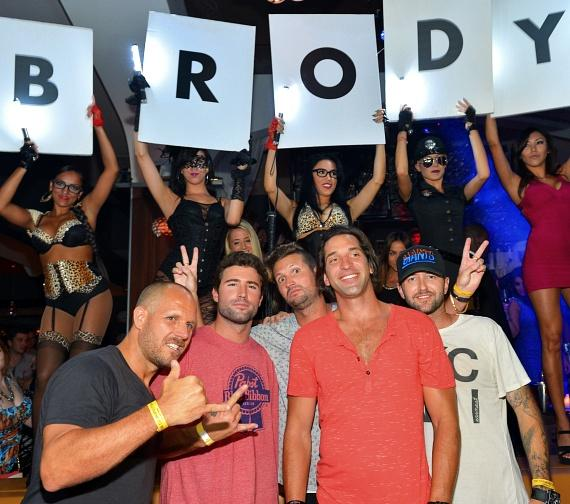 Brody Jenner with birthday cake at Hyde Bellagio, Las Vegas