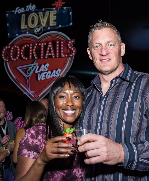 """Sherice Parish and Michael Rasp at """"For The Love of Cocktails"""""""