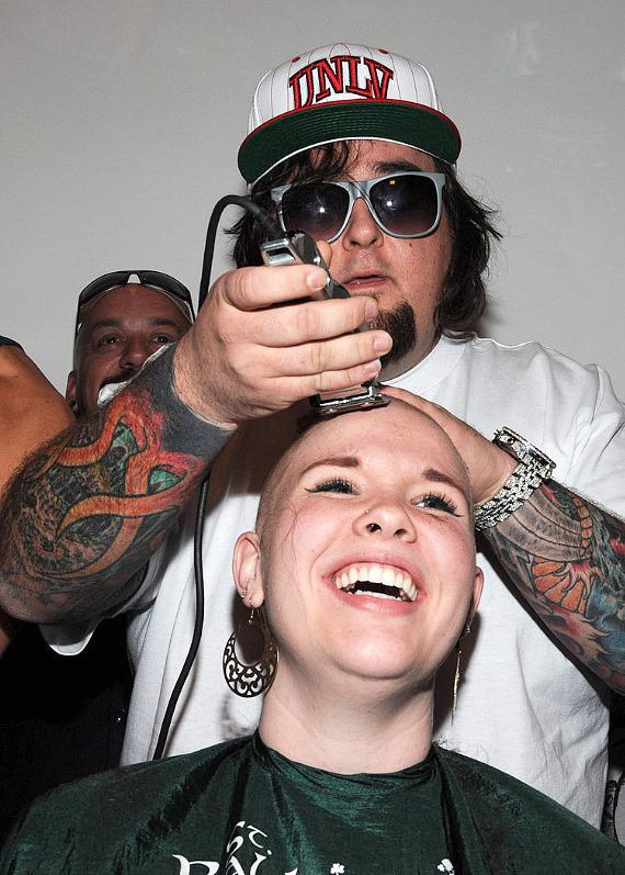Pawn Stars Chumlee shaves heads for St. Baldrick's Foundation