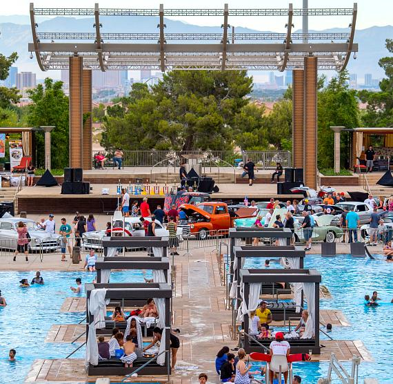 Beers, Gears & Bikinis Car Show takes over M Pool at M Resort Spa Casino on June 10, 2017