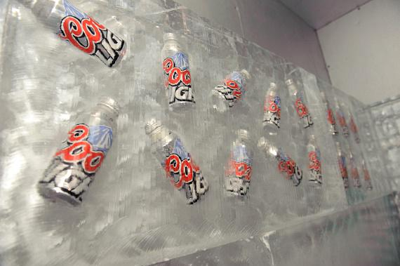 Ice cold Coors Light Silver Bullet Aluminum Pints