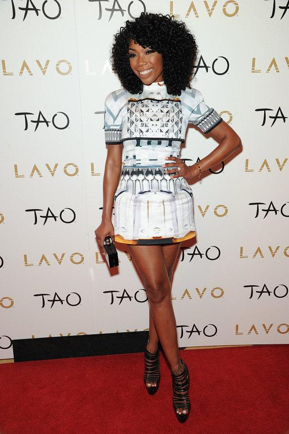 Brandy on red carpet at LAVO