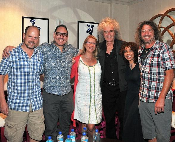 """Brian May of Queen Visits """"O"""" by Cirque du Soleil"""