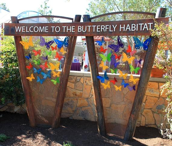 Butterfly Welcome Sign at Springs Preserve