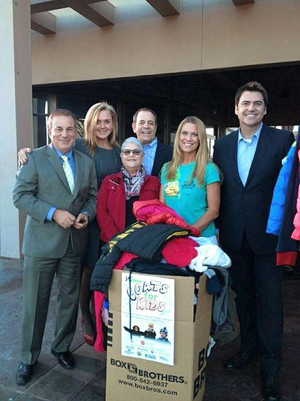 CBS Radio team,  Leslee Rogers from Salvation Army, Dina Mitchell and Bryan Scofield from KTNV