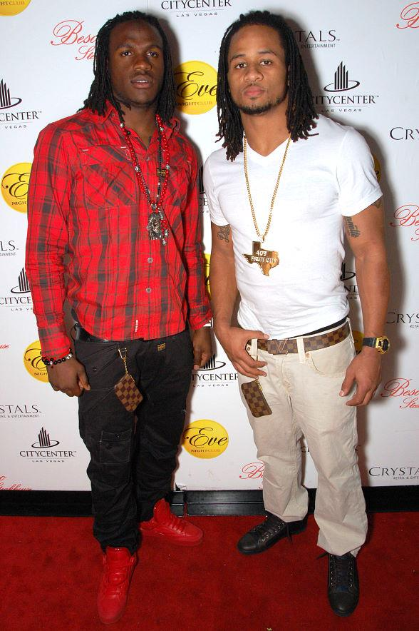 NFL's Jamaal Charles and Earl Thomas at Eve Nightclub