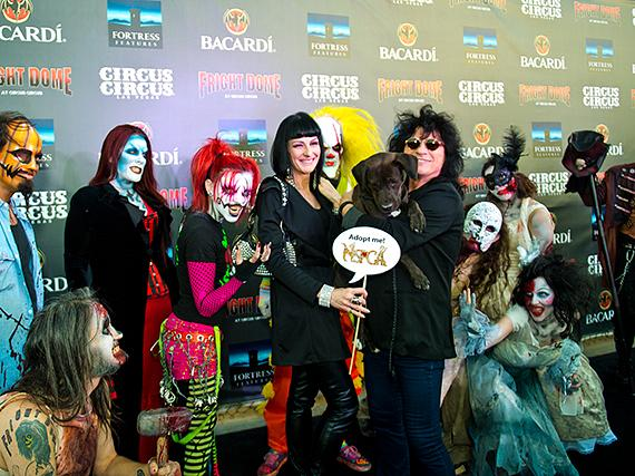 Rock legend Paul Shortino and wife Carmen at Fright Dome in Las Vegas