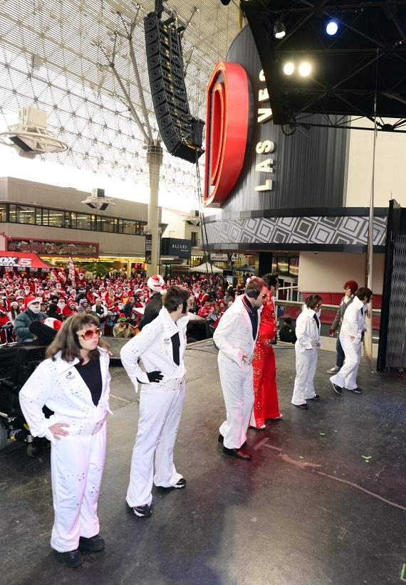 Opportunity Village kids do their Elvis impersonations