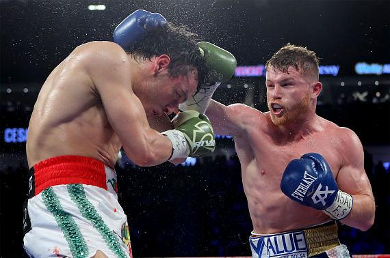 Canelo earning a unanimous decision with all three judges scoring the fight 120-108