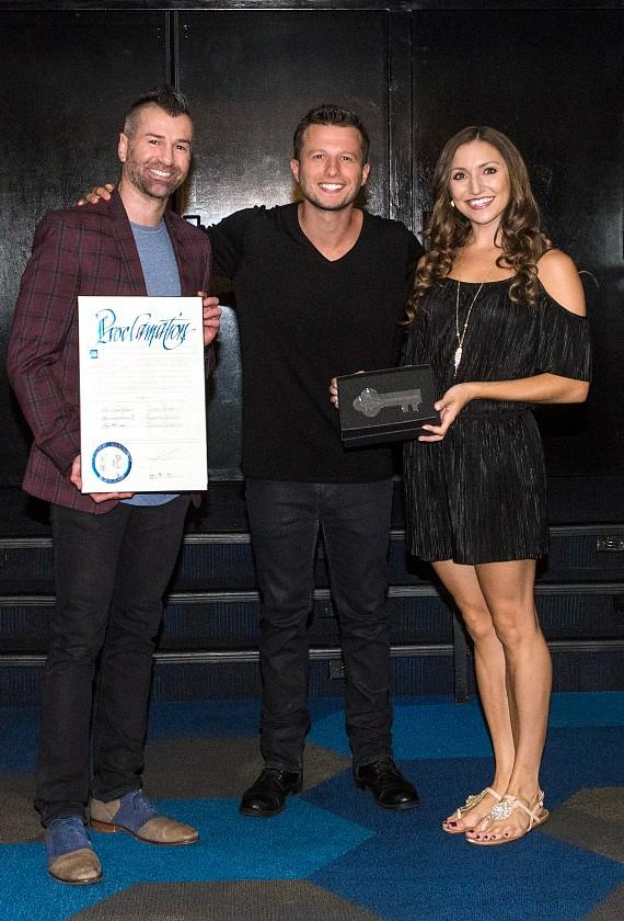 "Cast of ""Mat Franco - Magic Reinvented Nightly"" at Mat Franco Theater"
