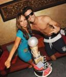 Cheryl Burke & Mark Ballas at TAO Beach
