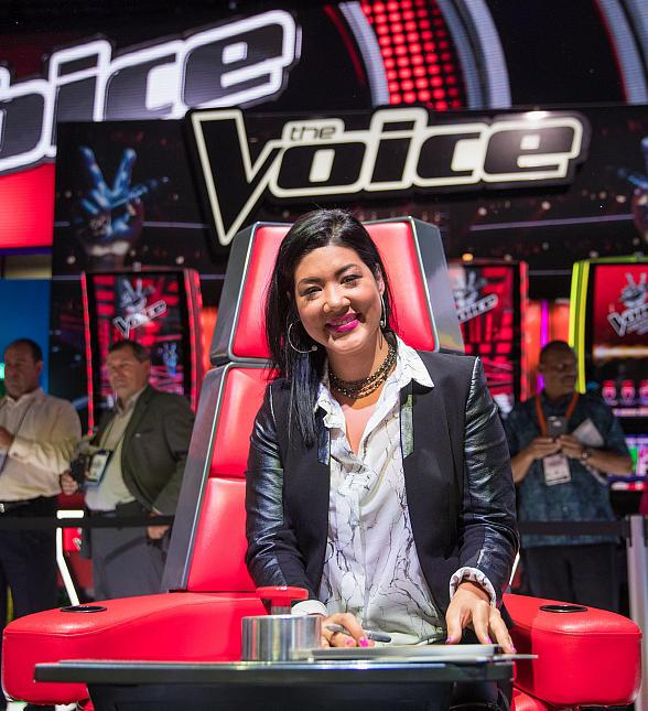 """Season Five Winner of """"The Voice"""" Tessanne Chin performs at G2E as IGT Premiers The Voice Video Slots"""
