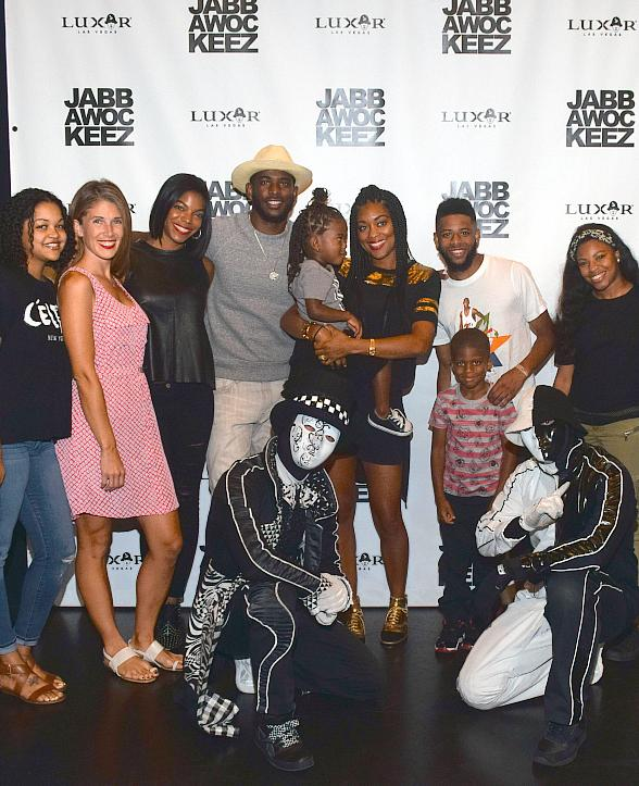NBA superstar Chris Paul attended Jabbawockeez at Luxor Hotel & Casino in Las Vegas
