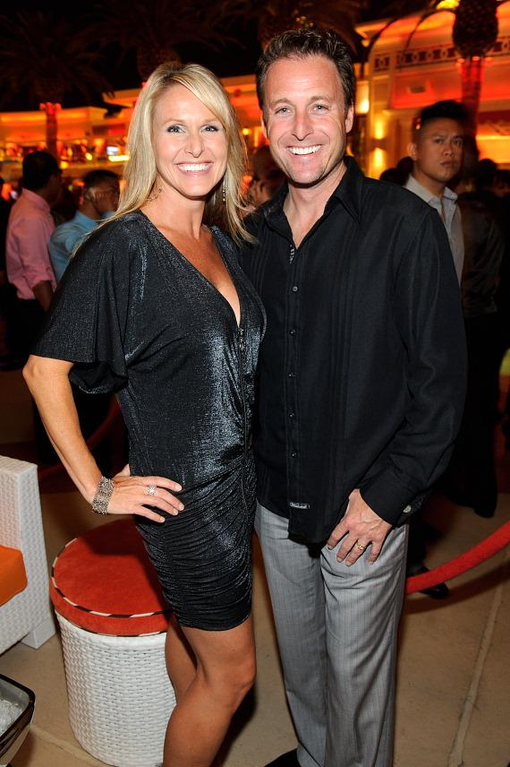 Chris Harrison with wife Gwen at Surrender Nightclub