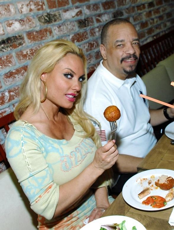 Coco Austin and Ice T at Meatball Spot