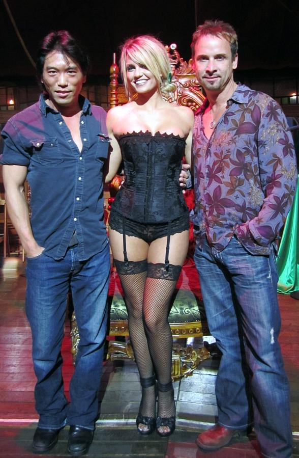 Colin Cunningham and Peter Shinkoda with Angel Porrino