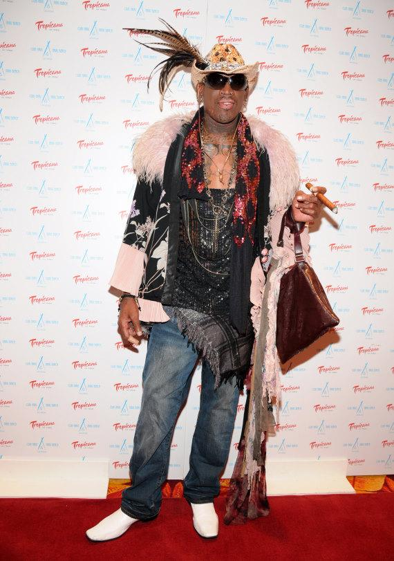 Dennis Rodman at Official Hall of Fame Induction Party at Club Nikki