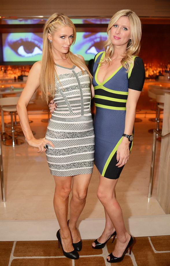 Nicky and Paris Hilton at Andrea's in Wynn Las Vegas