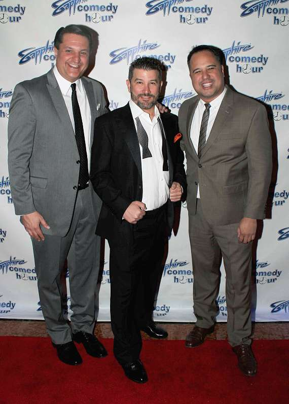 "Douglas ""Lefty"" Leferovich, Brett Feinstein and Philip Peredo, Producers of the Sapphire Comedy Hour"