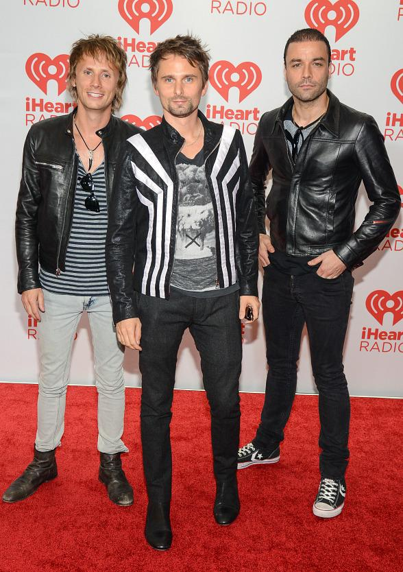 Dominic Howard, Matthew Bellamy and Christopher Wolstenholme of MUSE