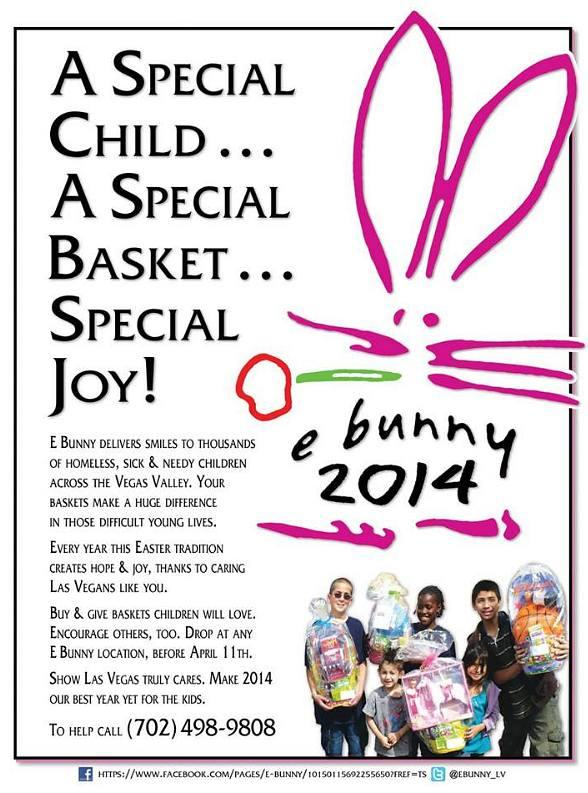 E Bunny delivers smiles to thousands of homeless, sick and needy children across the Vegas Valley.