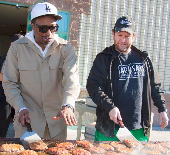 Eddie Griffin and Darin Feinstein (Owner, Fatburger's Fat Bar LV, Fatburger Green Valley, Fatburger Red Rock)