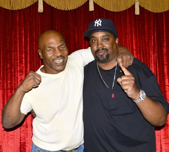 "Mike Tyson and Eric B at ""Mike Tyson Undisputed Truth"""