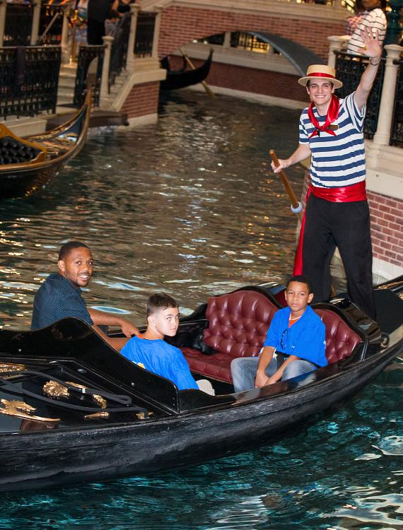 Eric Gordon Rides Gondola with kids from Jump For Joy Foundation