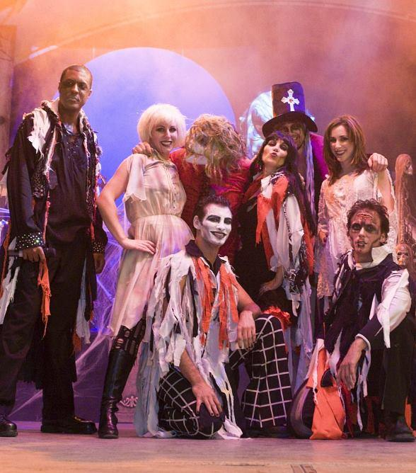 Frank & The Steins perform during Fifth Annual OktoberFrightFest at Fremont Street Experience