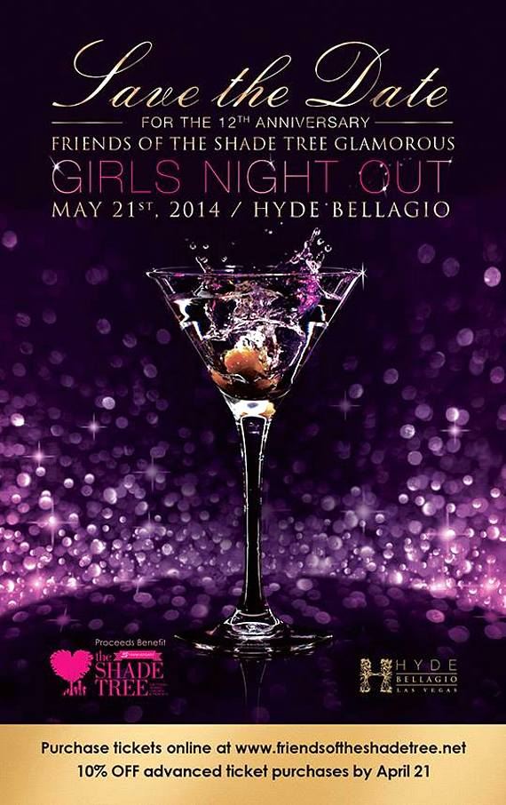Friends of The Shade Tree to Host 12th Annual 'Girls Night Out' at Hyde Bellagio May 21