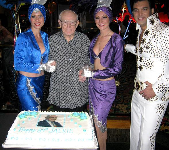 Jackie Gaughan Celebrating his 89th Birthday with Elvis and Showgirls