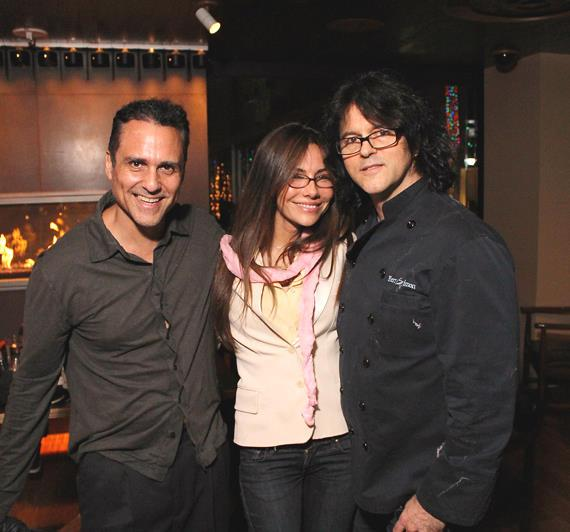 """""""General Hospital"""" stars Maurice Benard (left) and Vanessa Marcil (middle) pose with Executive Chef Kerry Simon (right)"""