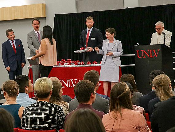 UNLV School of Medicine students receive stethoscopes on first day of school