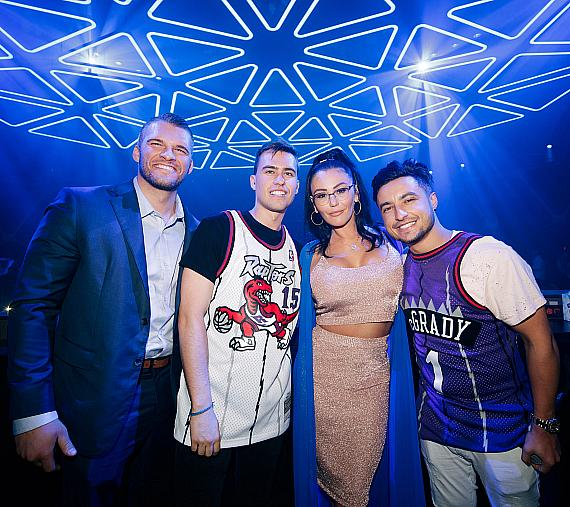 JWoww, Zack Clayton Carpinello and resident artists Loud Luxury at Hakkasan Nightclub inside MGM Grand Hotel & Casino on Saturday, May 25