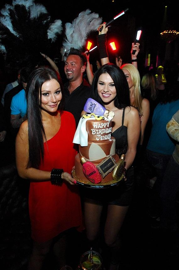 JWoww and her tanning themed birthday cake