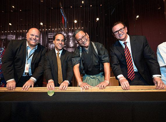 Morimoto Las Vegas Grand Opening Takes Over MGM Grand with Lion Parade, 100-Foot Maki Roll and More