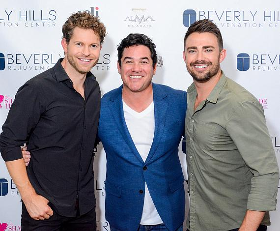 Jaymes Vaughn, Dean Cain and Jonathan Bennett at Beverly Hills Rejuvenation Center Downtown Summerlin's Grand Opening Event
