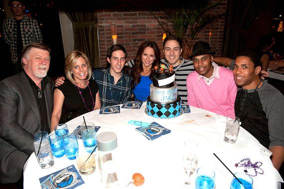 Jennifer Love Hewitt, Jaron Einsohn and friends at LAVO