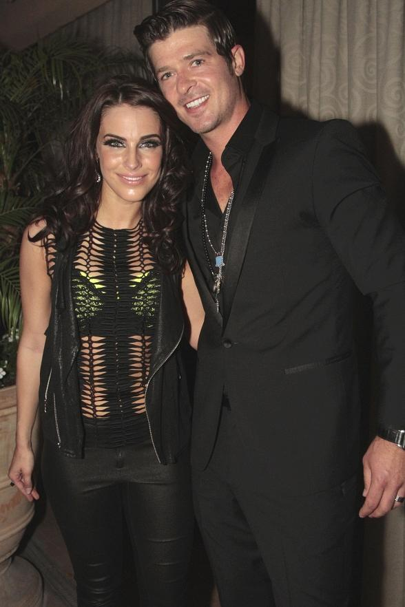 Jessica Lowndes & Robin Thicke