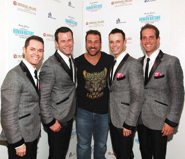 Joey Fatone Attends Human Nature Show at Imperial Palace