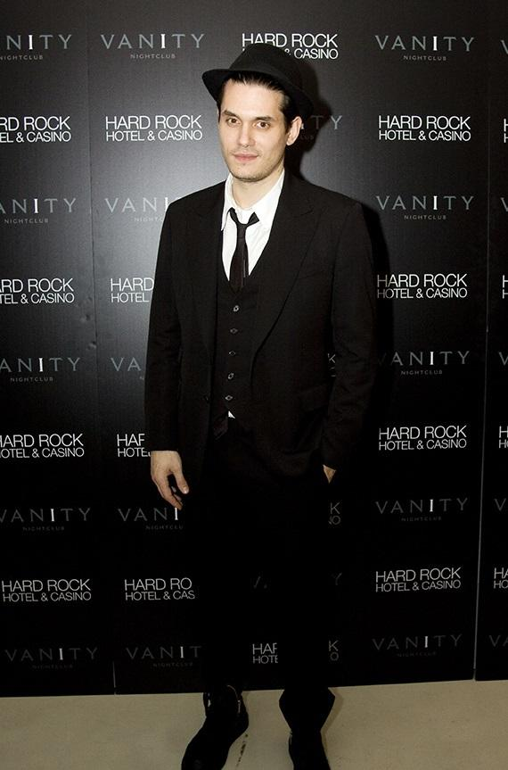 John Mayer celebrates at Vanity
