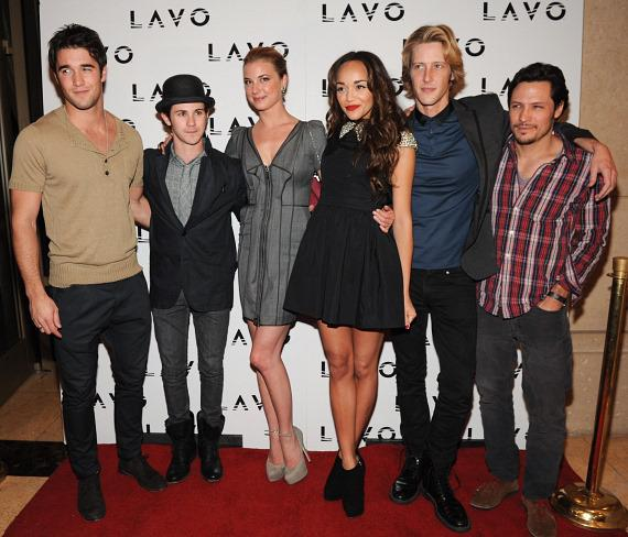 Ashley Madekwe with friends and co-stars