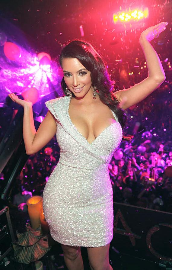 Kim Kardashian celebrates New Year's Eve at TAO Las Vegas