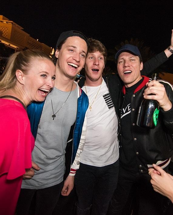 Kygo, Tiesto and fans at XS Nightclub
