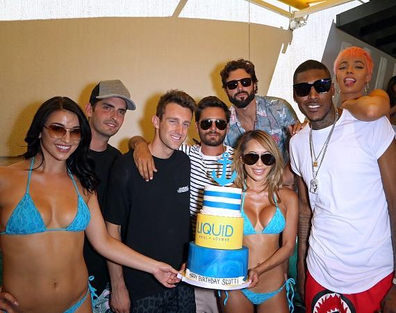 Scott Disick, Brody Jenner and Friends at Liquid Pool Lounge