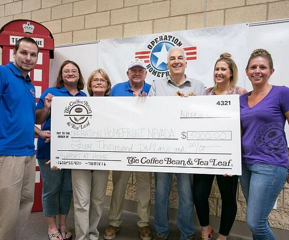 The Coffee Bean & Tea Leaf Raises $5,000 During Annual 'Support at Home' Fundraiser to Benefit Operation Homefront, Active-Duty Military Members, Veterans and their Families
