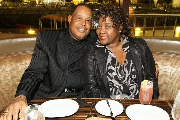 Loretta Divine and husband Glenn Marshall at Eva Longoria's Beso Steakhouse